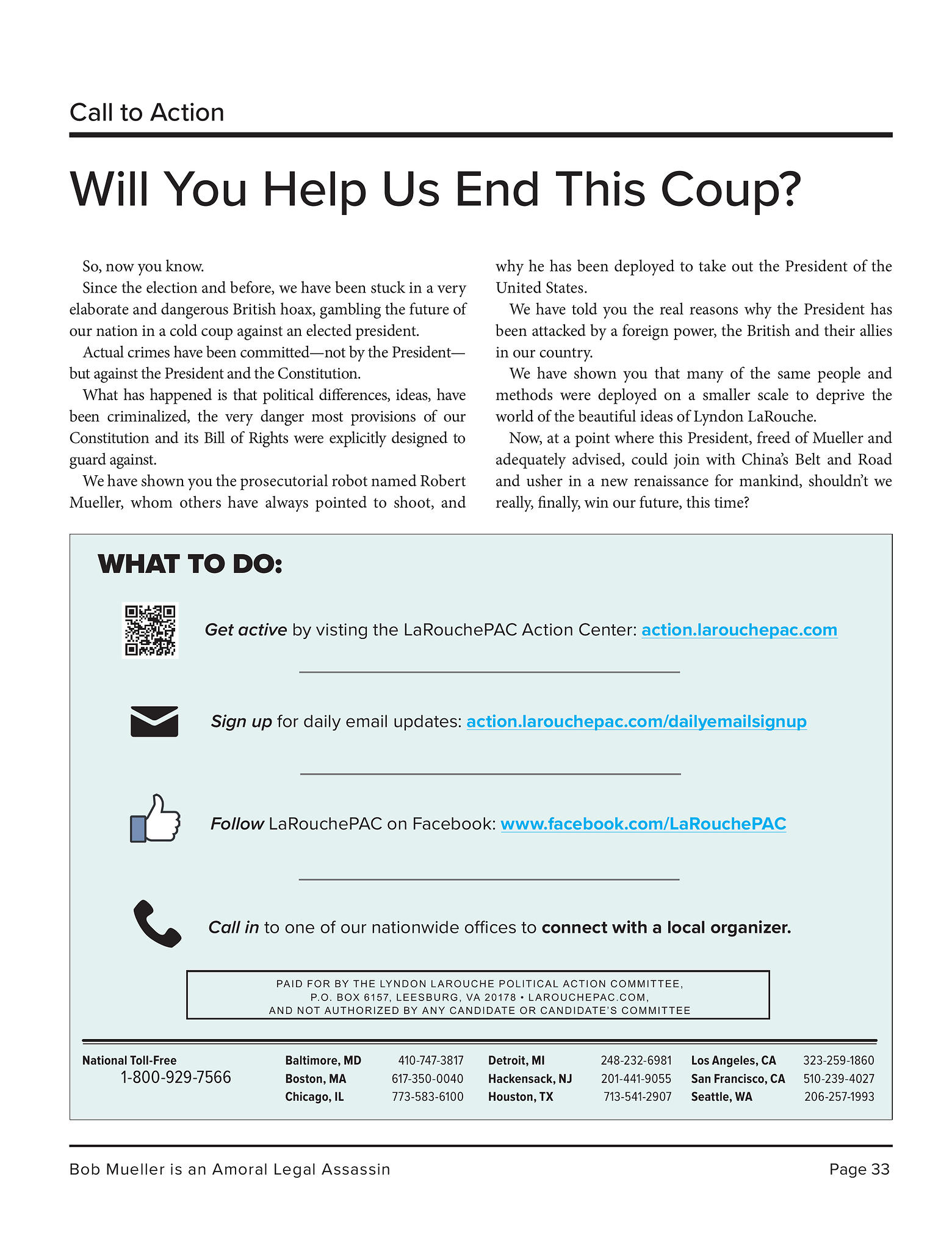 Will you help us end this coup?