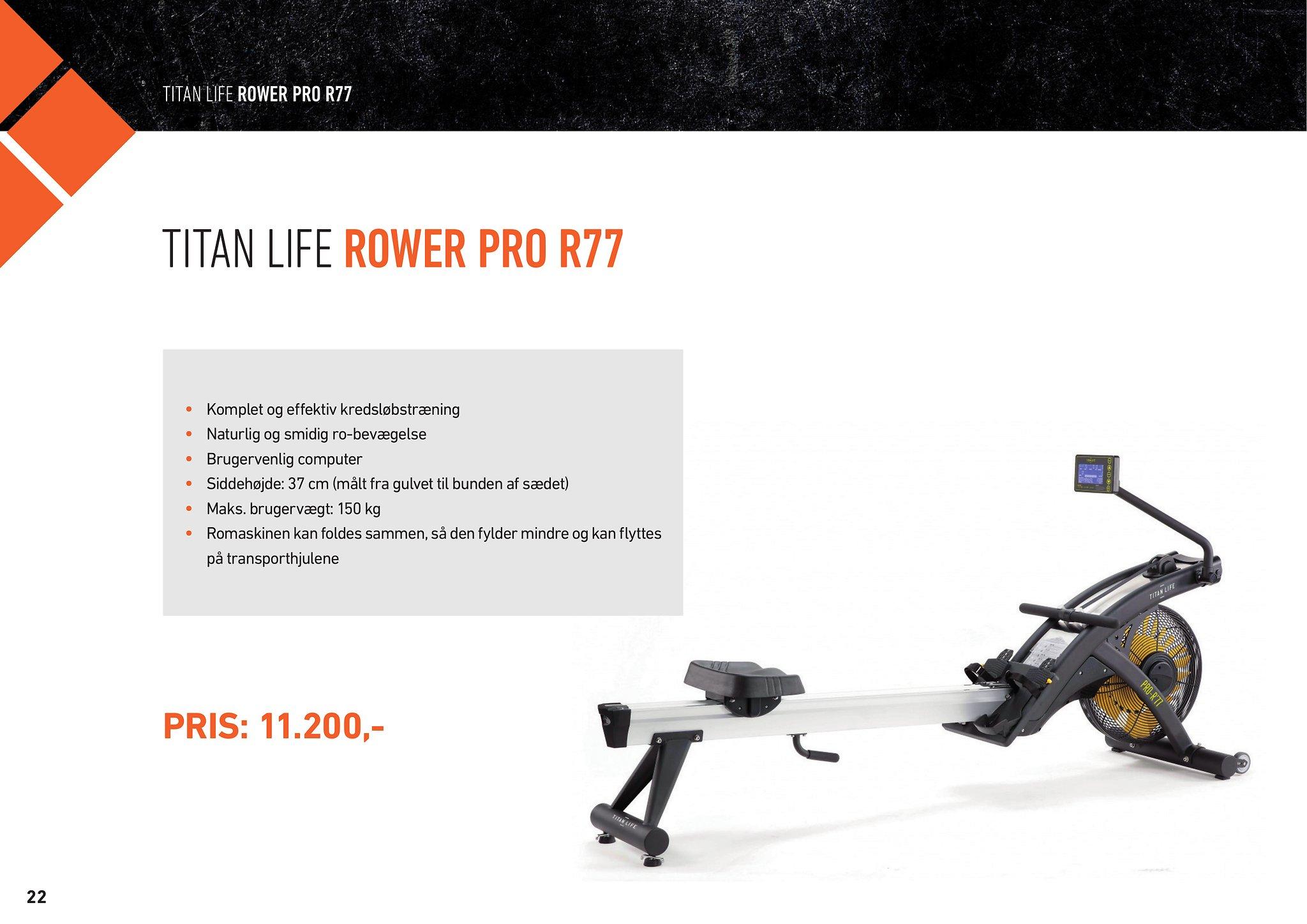 TITAN LIFE ROWER PRO R77 – HIIT – MedicSport