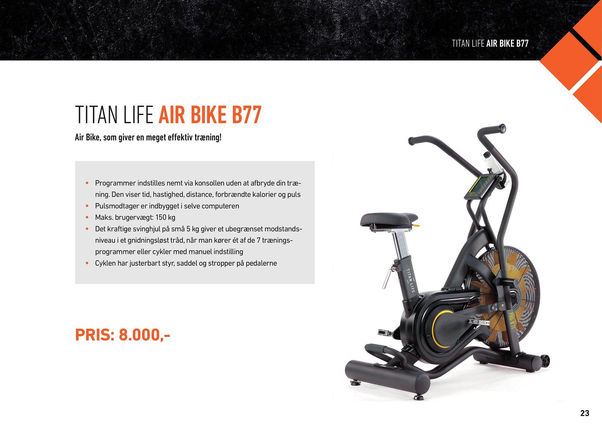 TITAN LIFE AIR BIKE B77 – HIIT – MedicSport