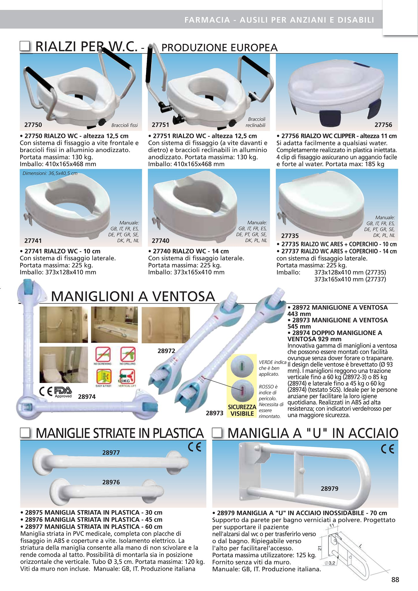 Altezza Placca Wc catalogo 4healthgroup - flipbook - pagina 99