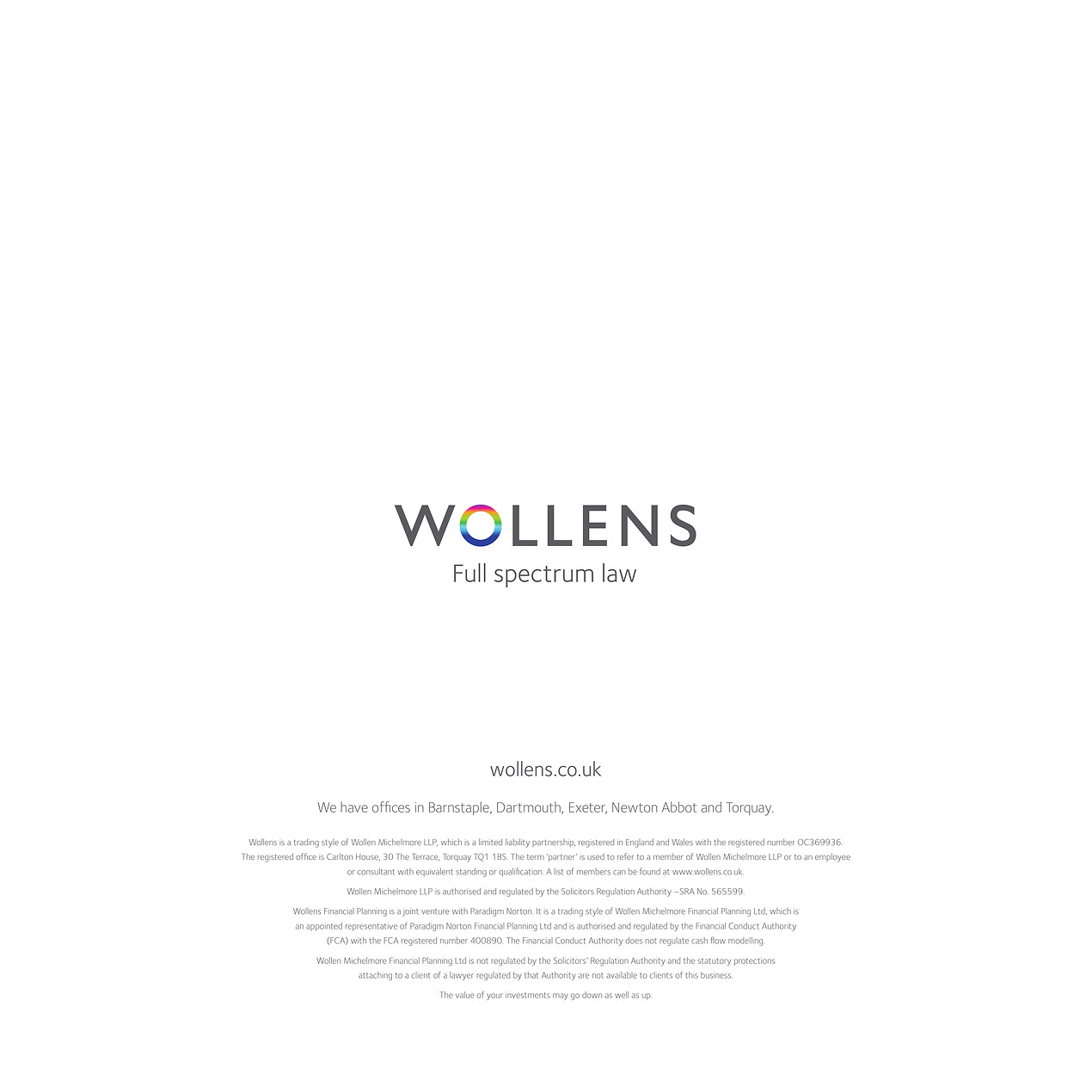 Wollens Corporate Brochure – Full Spectrum Law - Flipbook