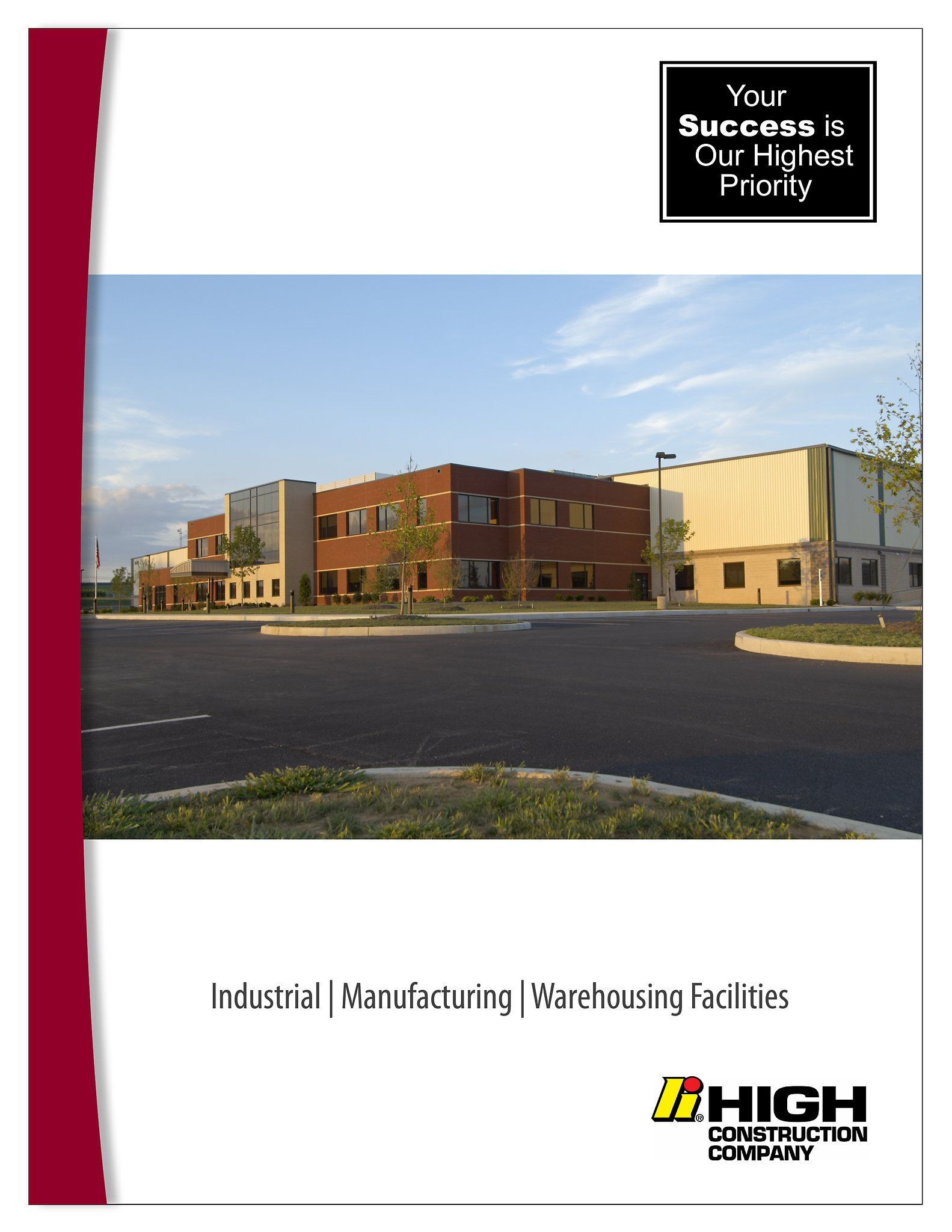 High Construction Company Brochure - Industrial / Manufacturing/ Warehousing