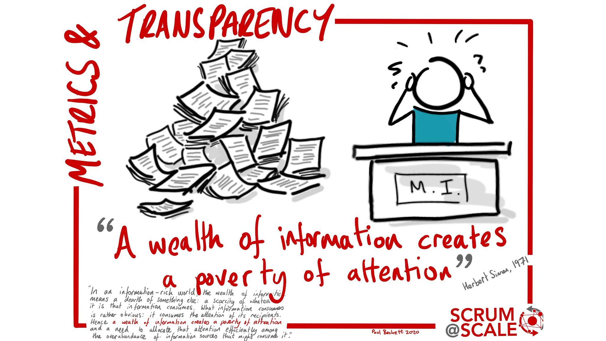A wealth of information creates a poverty of attention | Metrics & Transparency - Scrum@Scale Component
