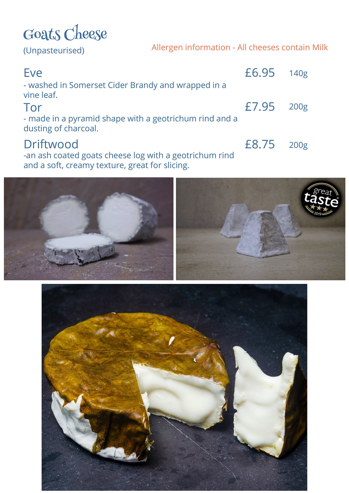 Award Winning Goats Cheese from White Lake Cheese in Somerset