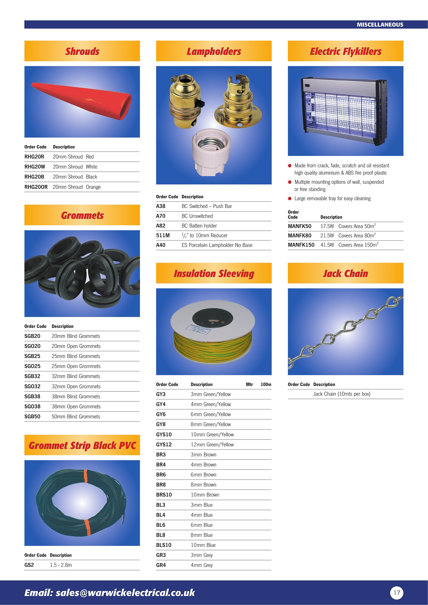 Warwick Electrical Catalogue 2018 - Catalog - Page 17